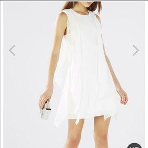 BCBG Lillie sleeveless ruffle dress.